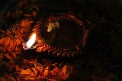 Светильник масла Diwali Стоковое Фото