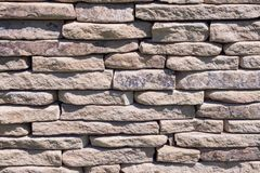 Светлая каменная стена стена текстуры кирпича предпосылки старая Стоковое Изображение