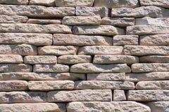 Светлая каменная стена стена текстуры кирпича предпосылки старая Стоковые Фотографии RF