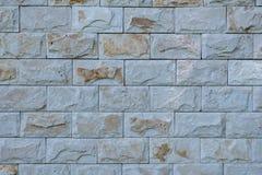 Светлая каменная стена стена текстуры кирпича предпосылки старая Стоковая Фотография RF