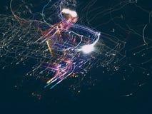 Светлая картина, картина с светом используя пестротканый шарик Стоковое Изображение RF