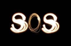 светлая картина sos Стоковое Изображение RF