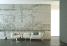 Светлая комната дизайна интерьера современная с белой софой иллюстрация штока