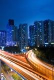 светлая ноча отставет viaduct Стоковые Фотографии RF