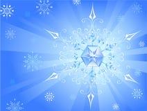 светлая снежинка Стоковое Изображение RF