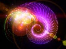 светлая спираль Стоковое Изображение RF