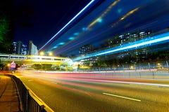 светлая тропка движения ночи Стоковое Фото