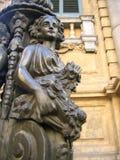 светлая улица статуи Стоковые Фото
