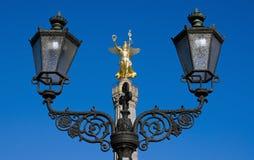 светлая улица victoria статуи Стоковые Изображения