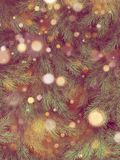 Светлое винтажное bokeh нерезкости на рождественской елке, светлой предпосылке bokeh 10 eps иллюстрация штока