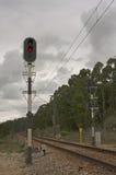 светлое движение красного цвета рельса Стоковая Фотография RF