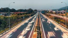 Светлое движение на шоссе Стоковая Фотография RF