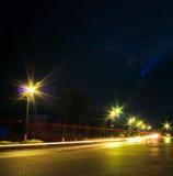 светлое движение ночи Стоковые Изображения RF