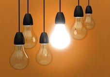 светлое нововведение шарика идеи творческое Стоковая Фотография RF