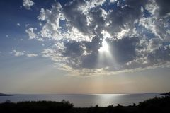 светлое солнце Стоковое Изображение