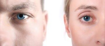светлое тоновое изображение голубого глаза Стоковые Изображения RF