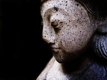Светлое тоновое изображение индусской статуи танцора черно-белое Стоковые Изображения