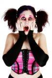 светлое тоновое изображение goth красотки Стоковое фото RF