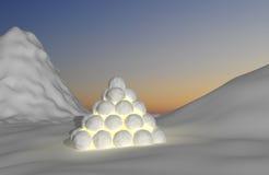 светлое montain снежное Стоковые Изображения RF