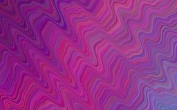 Светло-фиолетовая картина вектора с линиями, овалами Различные тени фиолетового, розовый, голубой Современный минималистский диза Стоковая Фотография RF