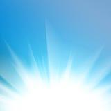 светлые абстрактной предпосылки голубые приглаживают Стоковые Изображения