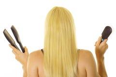 светлые волосы длиной Стоковая Фотография