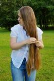 светлые волосы длиной Стоковое Изображение RF