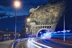 Светлые следы автомобиля машины скорой помощи стоковое фото rf