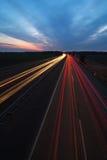 светлые тропки шоссе Стоковые Фото