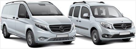 Светлый автомобиль неиндивидуального пользования и MPV Стоковые Изображения