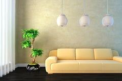 светлый глист комнаты 3d иллюстрация вектора