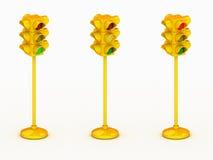 светлый желтый цвет движения 3d Стоковые Фото