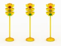 светлый желтый цвет движения 3d Стоковые Изображения RF