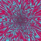 Светлый калейдоскоп излучать соединяет в teal и гренадине иллюстрация штока
