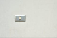 Светлый переключатель на стене иллюстрация штока