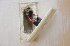 светлый переключатель реновации Стоковое фото RF