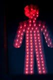 светлый пешеходный красный цвет Стоковая Фотография