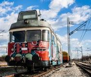 Светлый поезд рельса Стоковое Фото