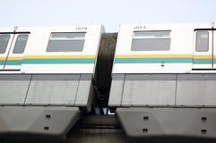 светлый поезд рельса Стоковая Фотография