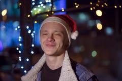 Светлый праздник рождества рождество веселое Подарки, хохот и удовольствие счастливое Новый Год Стоковые Изображения RF