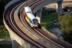 светлый рельс train2 Стоковые Изображения