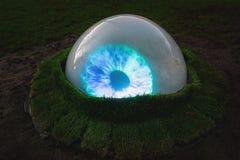 Светлый фестиваль Амстердам, светящий глаз в парке Стоковые Фото