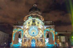 Светлый фестиваль в городе Гента, Бельгии стоковое фото