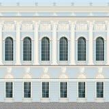 Светлый - backround стены дворца голубого фасада сливк классическое безшовное бесплатная иллюстрация