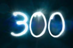 300 светлых год годовщины номера блеска искры стоковое фото