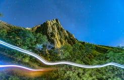 2 светлых следа от hikers на следе Стоковая Фотография