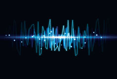 световая волна влияния абстрактной предпосылки расплывчатая Стоковое Изображение RF