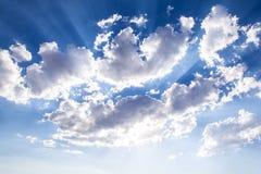 Световой луч Солнця стоковые фото