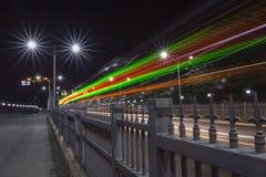 световой луч светофора Стоковое Изображение
