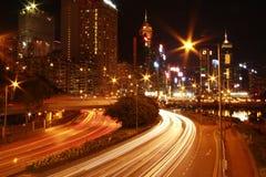 Световой эффект Гонконга Стоковое Фото